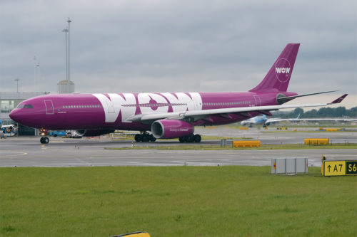 WOW Air A330 aircraft. Photo by Anna Zvereva, used with permission.