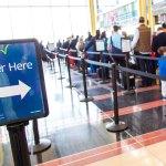 TSA PreCheck line at Ronald Reagan Washignton National Airport (DCA)