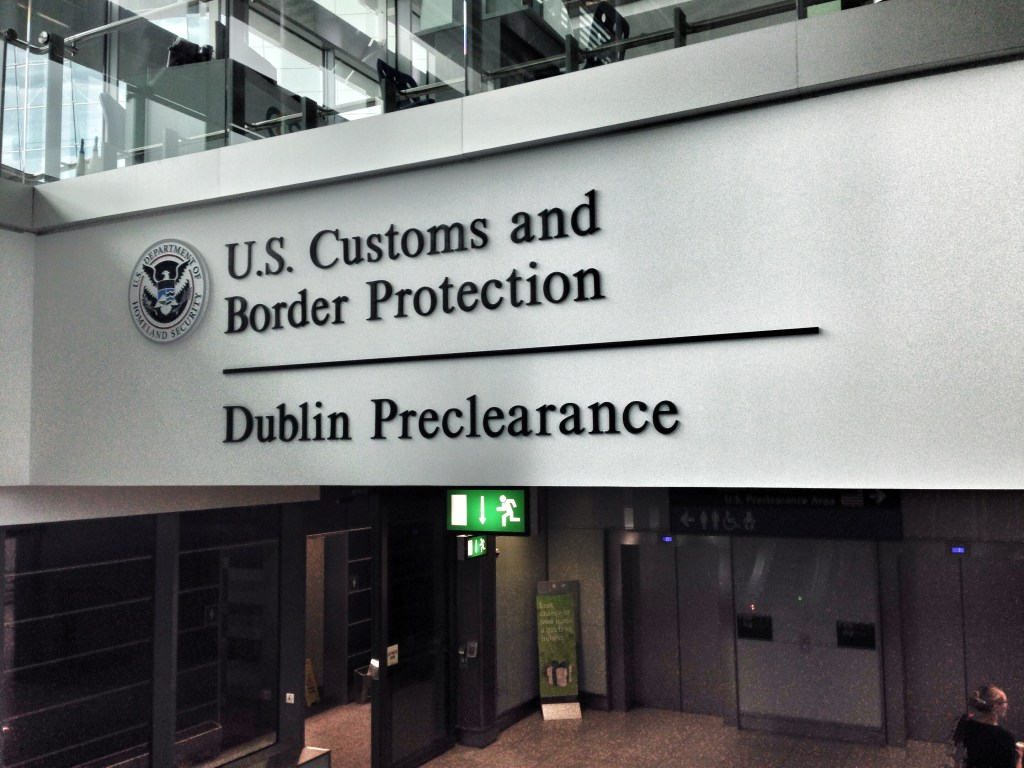 US CBP Pre-Clearance faciliy in Dublin Airport. Photo by WestportWiki, used with permission.