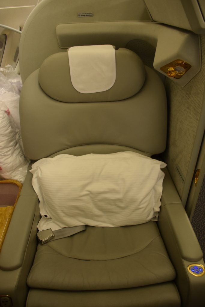 Emirates A380 First Class - Seat
