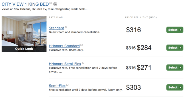 You can book the same Standard Rate that Hilton offers on Southwest's portal