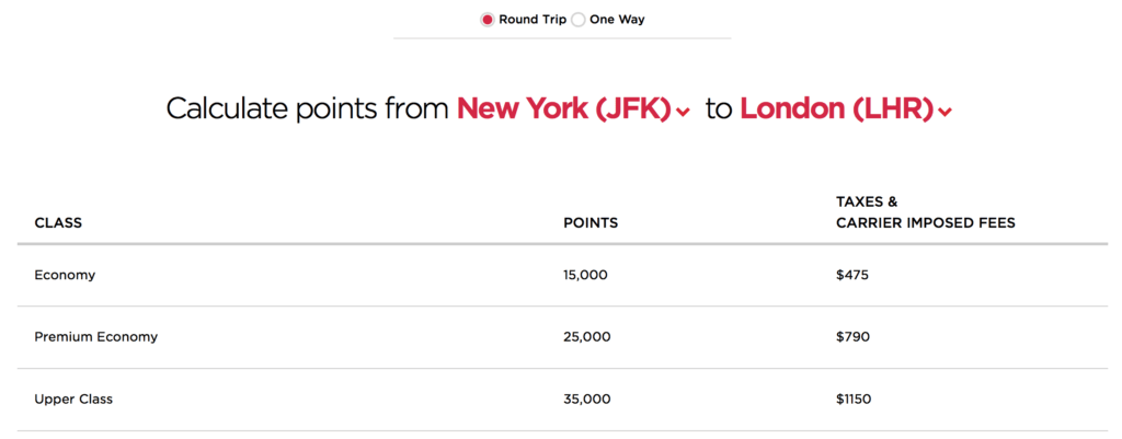Redeem 35,000 Virgin America points for a roundtrip ticket between New York and London!