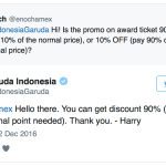Garuda Indonesia confirmed with me on Twitter that the promotion is indeed 90% off award tickets.