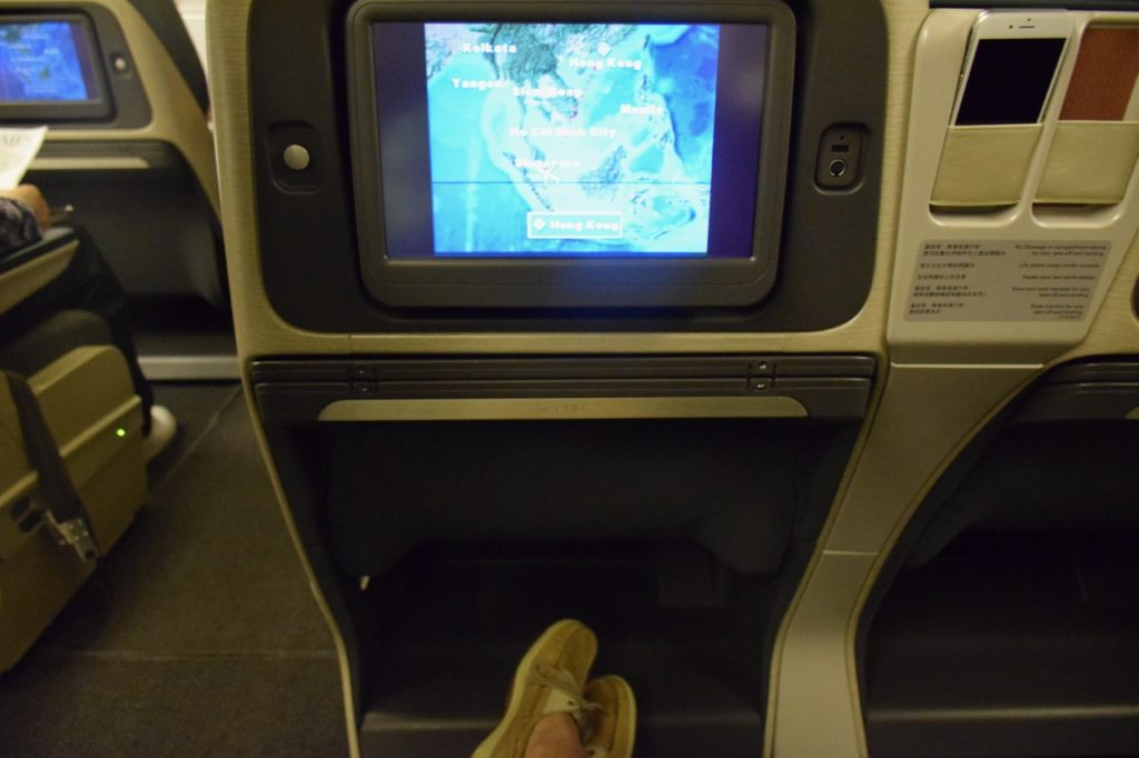 Cathay Pacific Regional Business Class In-Flight Entertainment Screen