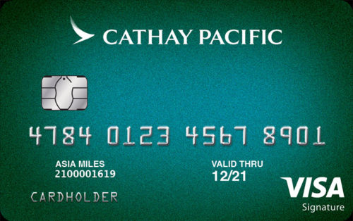 The new Cathay Pacific credit card for US residents.