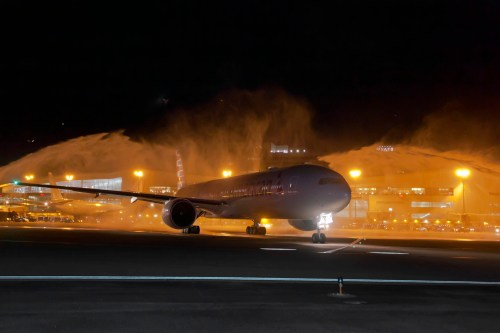 American 777-300ER Inaugural Flight