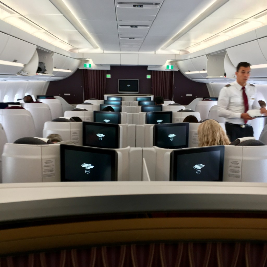 Review Qatar Airways A350 Business Class Jfk Doh Point