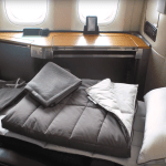 The full range of Casper products in American Airlines long-haul First Class. Source: American Airlines