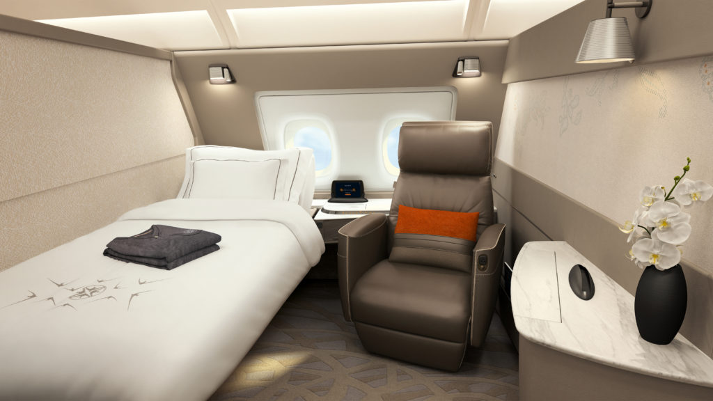The new Suites Class on Singapore Airlines' New A380. Source: Singapore Airlines