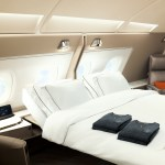 The new Suites Class can be converted into a double bedroom. Source: Singapore Airlines