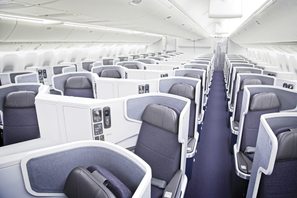 American Airlines Business Class onboard the B777-300ER. Source: American Airlines