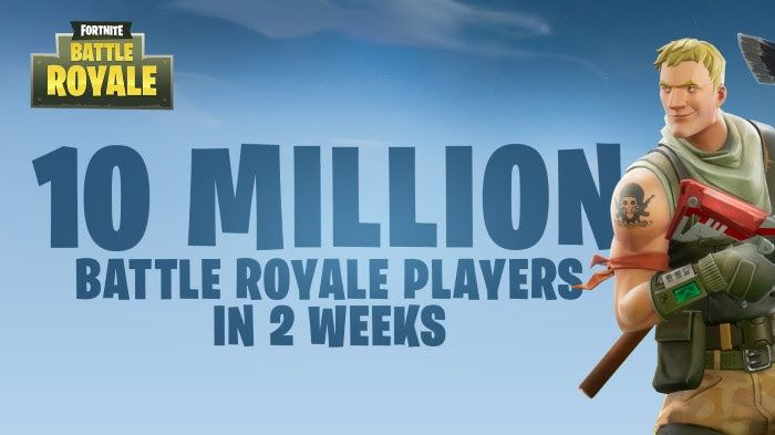 Fortnite Battle Royale 10 million