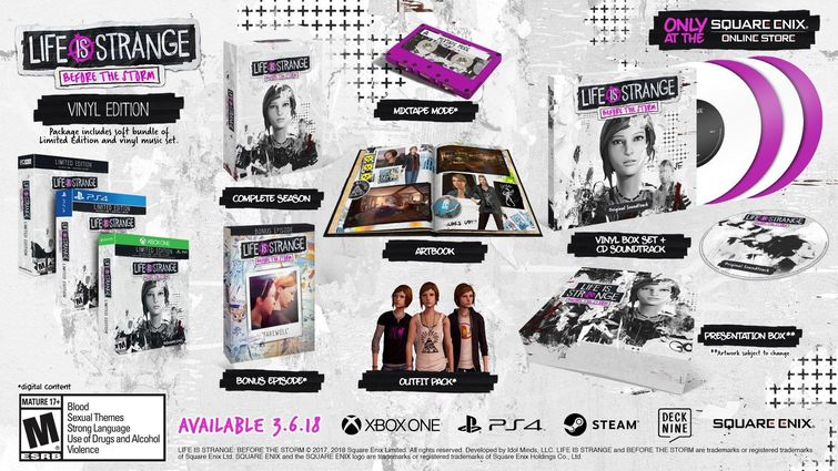 News: Life is Strange: Before the Storm retail editions confirmed