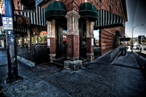 On the corner of Whiskey Row