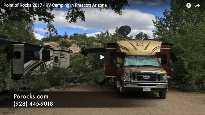 Point of Rocks RV Campground Tour Video in Prescott Arizona