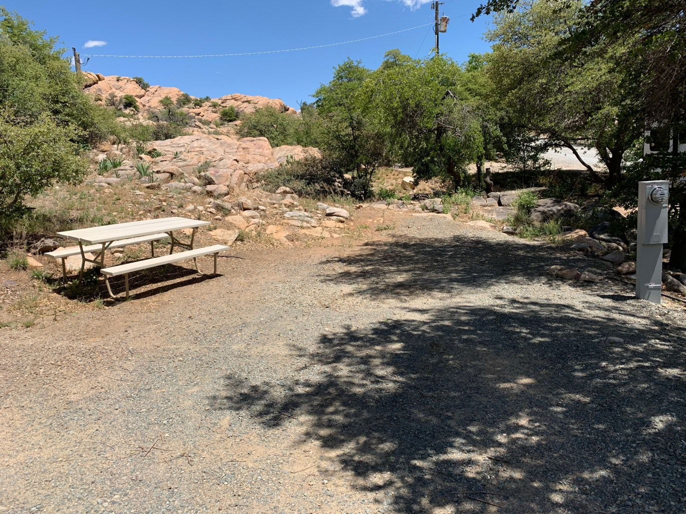 Campsite 2 at Point of Rocks RV Campground
