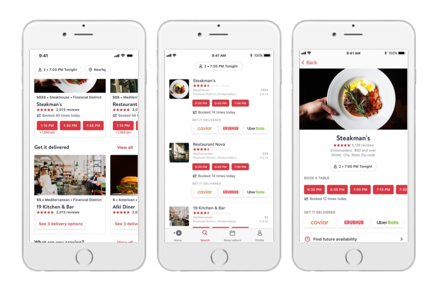 PointofSale OpenTable adds delivery