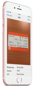 Capture business travel expenses on the go