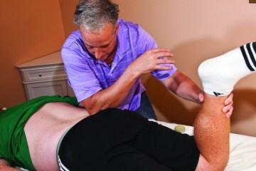 Dr. Parmenter using Rolfing technique