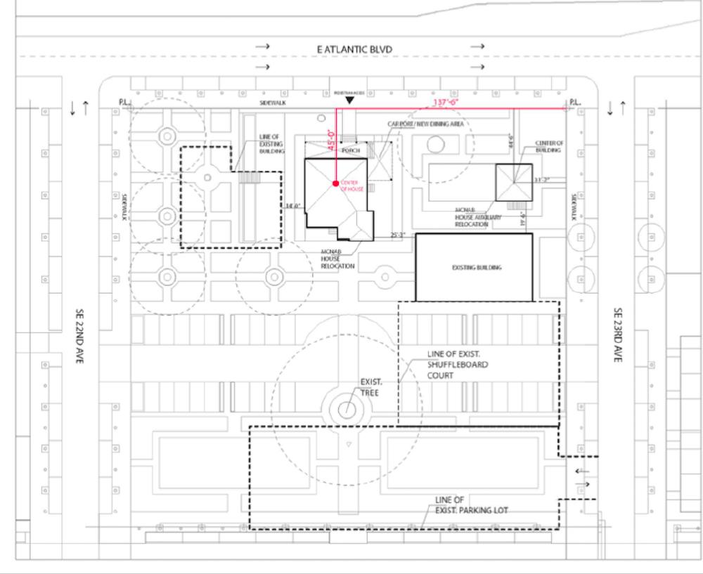 POMPANO BEACH MCNAB HOUSE RELOCATION SITE: Conceptual Design/Courtesy hand-out photo.