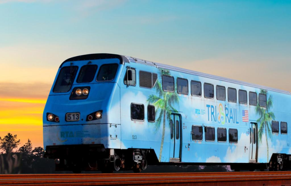 Pompano Beach Tri-Rail Accident:Tri-Rail train hits truck in Pompano Beach - courtesy photo