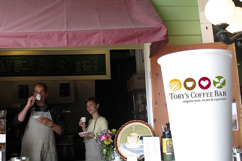 Espresso, coffee and tea at Toby's Coffee Bar.