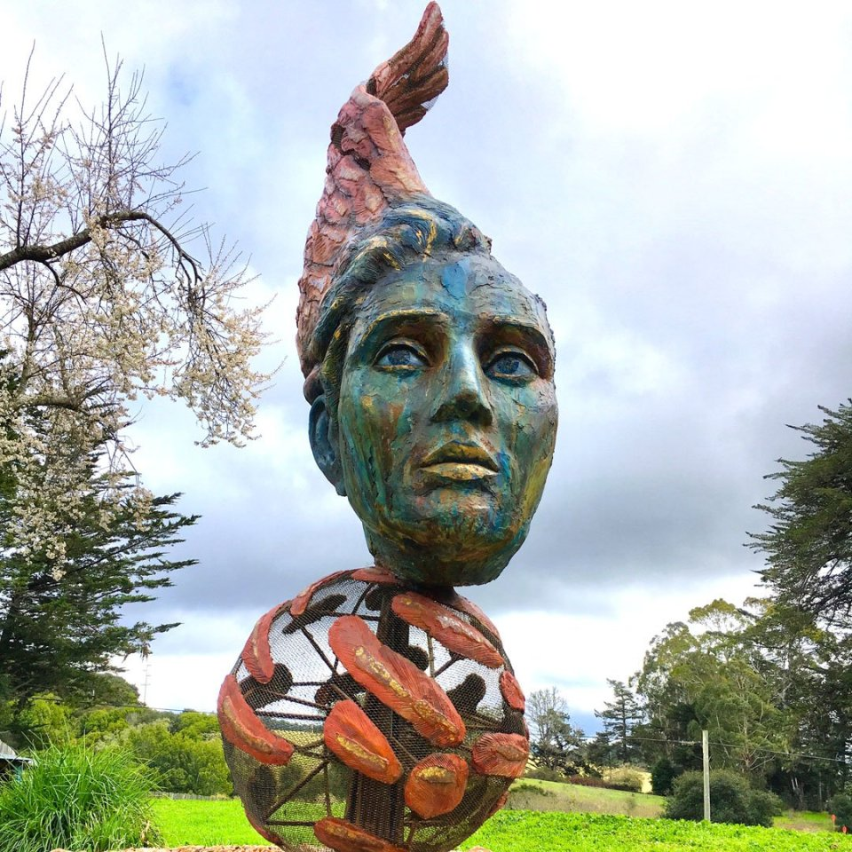 """Hypnos"" by Peter Crompton and Robyn Spencer-Crompton, at Olema Cottages"