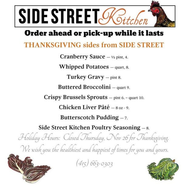 Side Street Kitchen Thanksgiving 2020