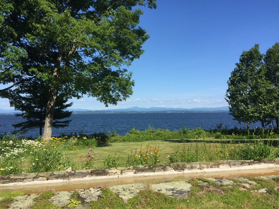 "Our view of Lake Champlain on the ""real"" Point Road. So magical."