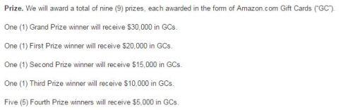 Amazon Prime Video Sweepstake Prize
