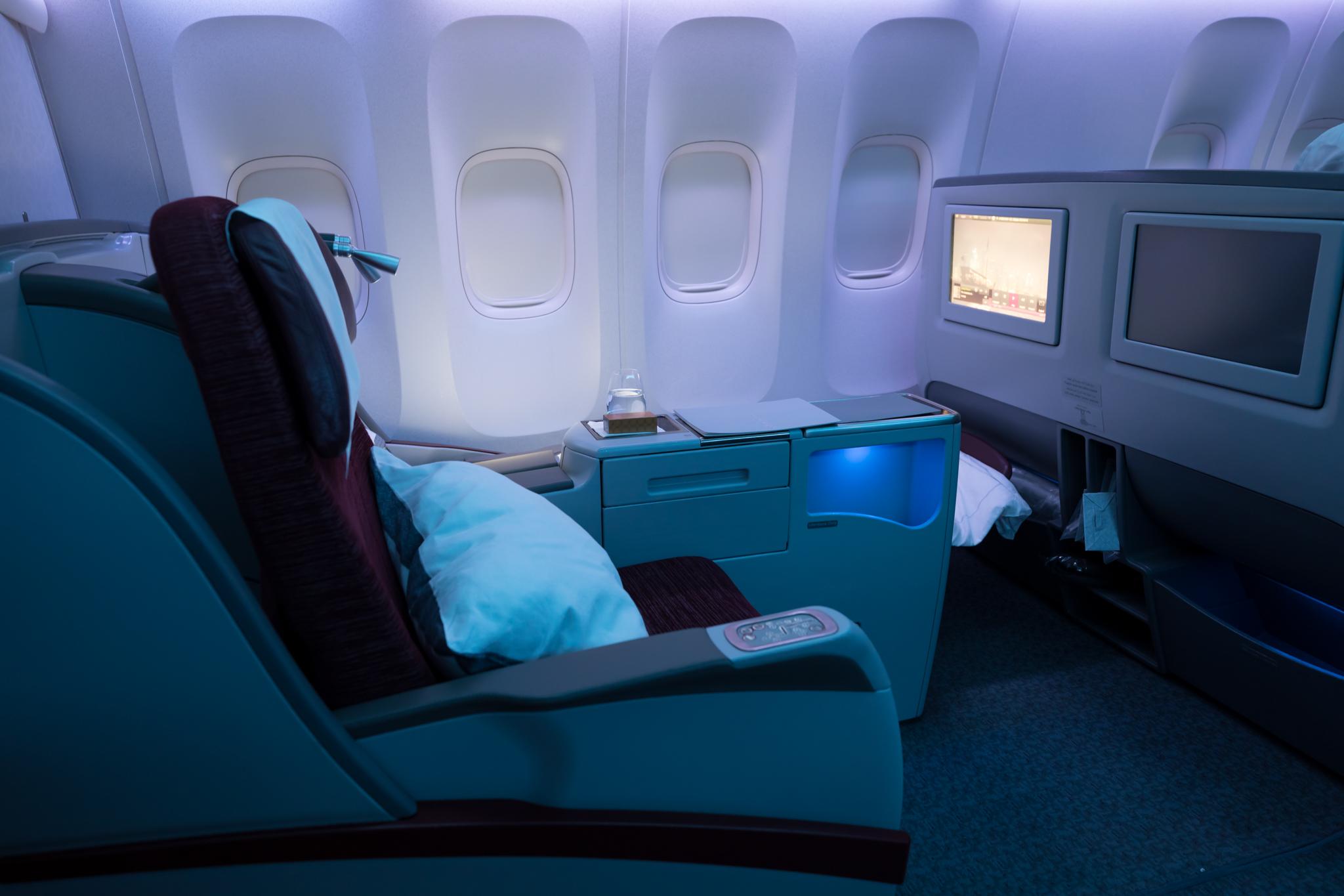 Review  Qatar 777200LR Business Class Doha  Auckland