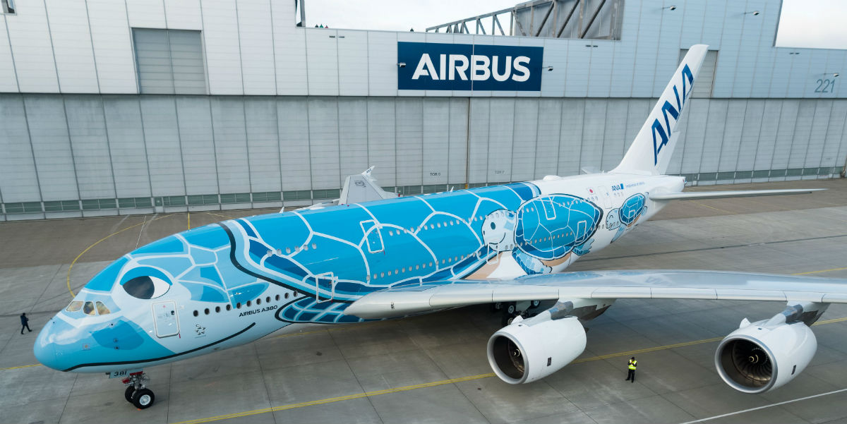 Grup di facebook Pesan Penerbangan A380 ANA Tanpa Tujuan