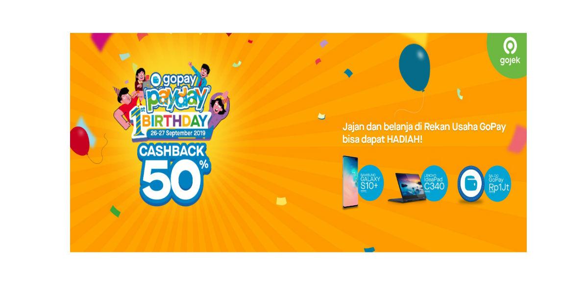Selain Cashback 50 Ada Hadiah Di Ulang Tahun Gopay Payday