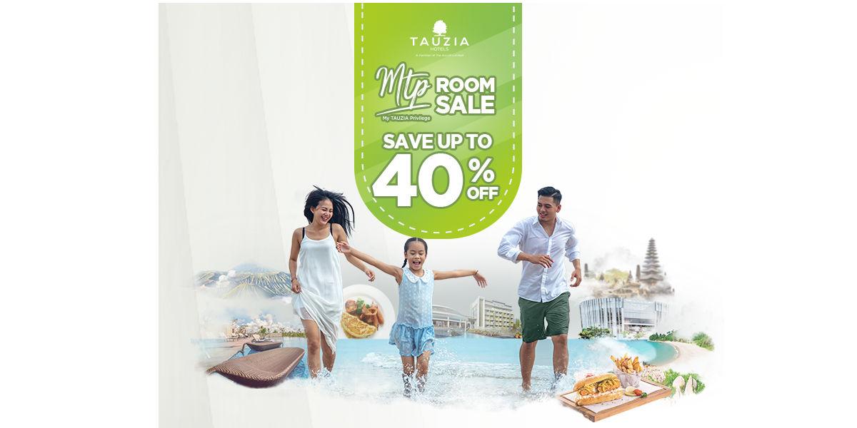 Diskon Hotel 40% 'MTP Room Sale' di My Tauzia Privilege