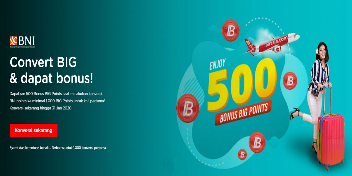 BNI Reward Points AirAsia BIG Points