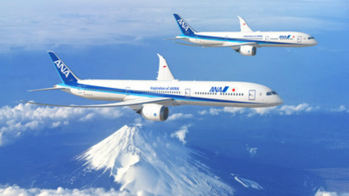 all nippon airways ANA Boeing 787 Dreamliner