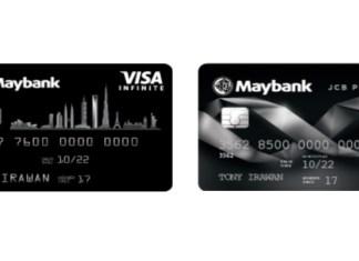 Maybank kartu kredit VISA dan JCB