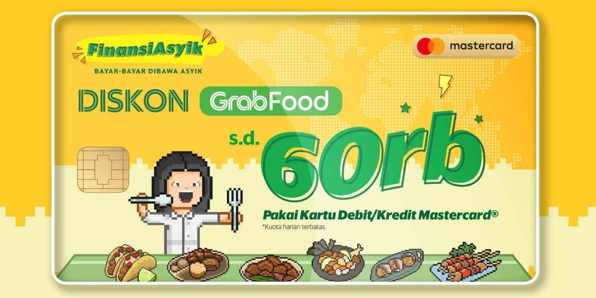 Bayar GrabFood Pakai KK/KD Mastercard Diskon Rp60.000