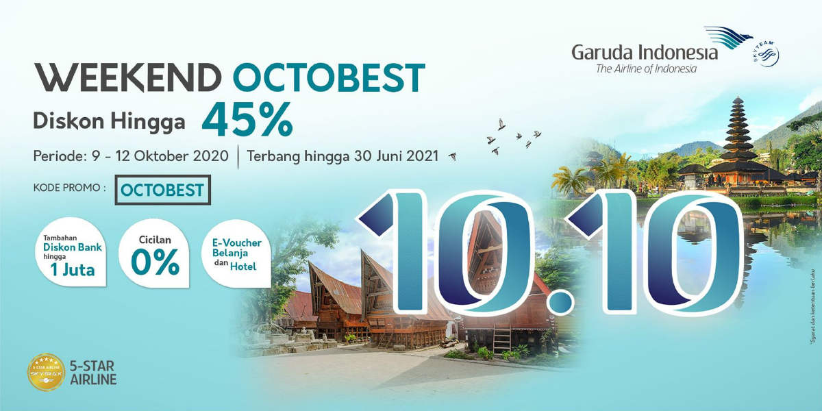 Weekend Octobest Garuda Indonesia Diskon Hingga 45 Points Geek