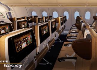 Etihad Airways Kelas ecokomi B787