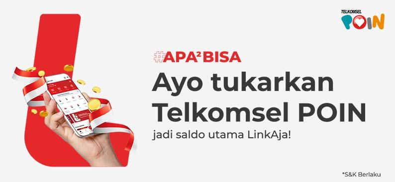 LinkAja Tukar Telkomsel Poin jadi Saldo Utama LinkAja