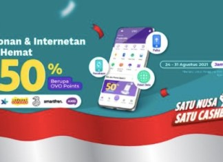 OVO Telepon dan Internet cashback 50