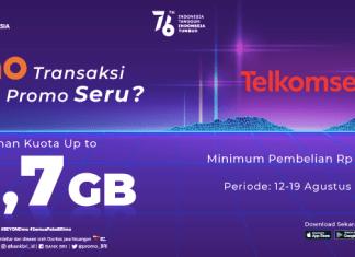 BRImo Telkomsel paket data bonus kuota