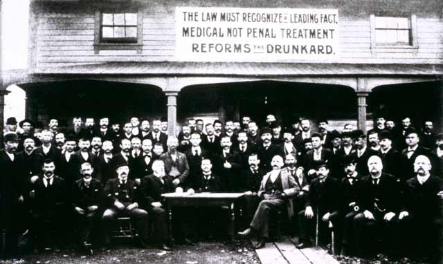 Keeley League Meeting, Dwight, Illinois, 1891 (via williamwhitepapers.com)