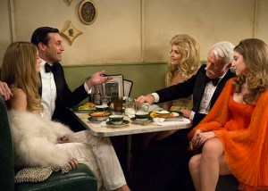 Jon Hamm as Don Draper and John Slattery as Roger Sterling in Ma