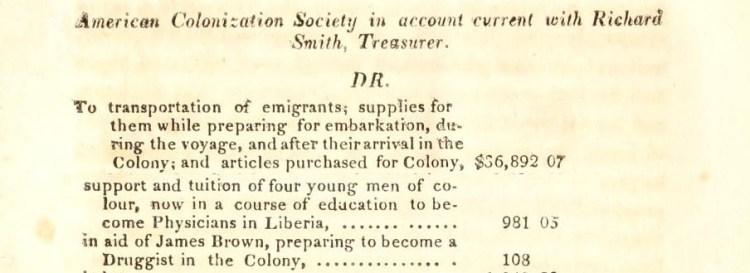1833 American Colonization Society Annual Report