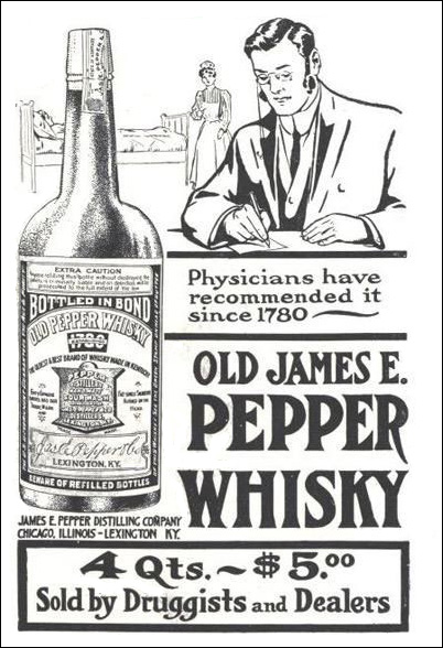 James E. Pepper Whiskey Ad