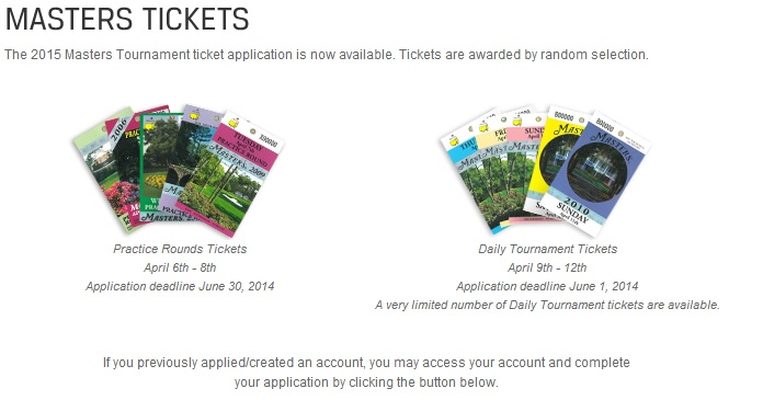 Masters Golf Tournament Ticket Lottery And How To Enter