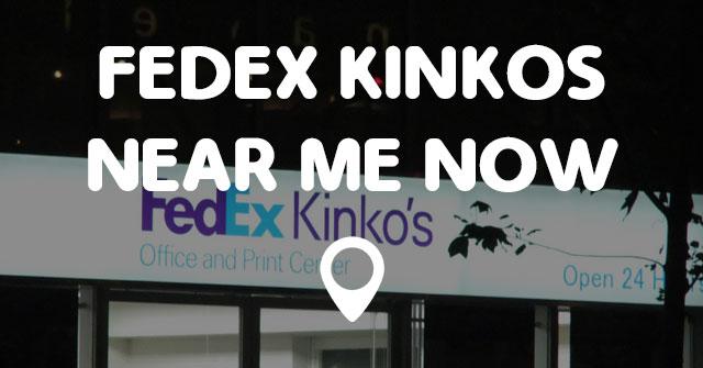 fedex kinkos near me