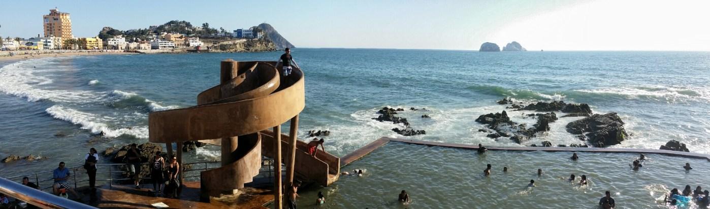 Public Slide/Pool at the seaside